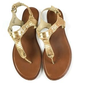 Michael Kors Sandals Gold 7.5